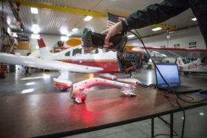 Aeroscan 3d Scanning Airplane parts